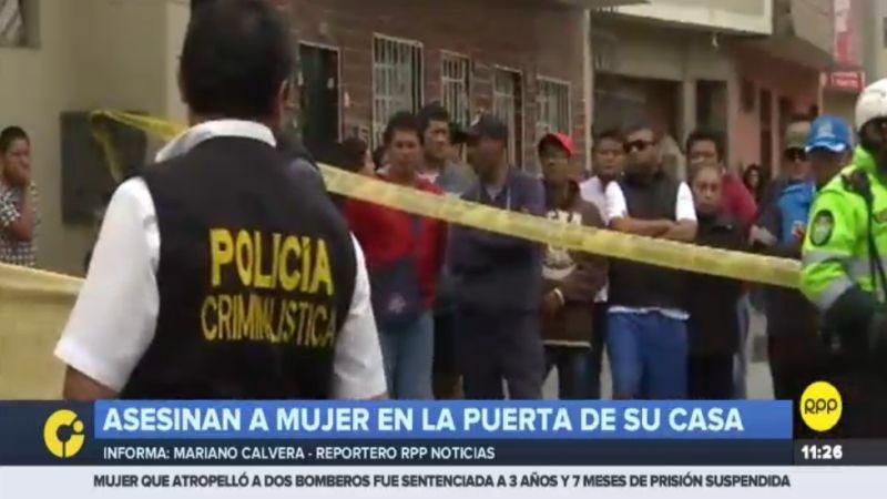 El asesinato ocurrió en la cuadra 37 del jirón Ayacucho, en San Martín de Porres.