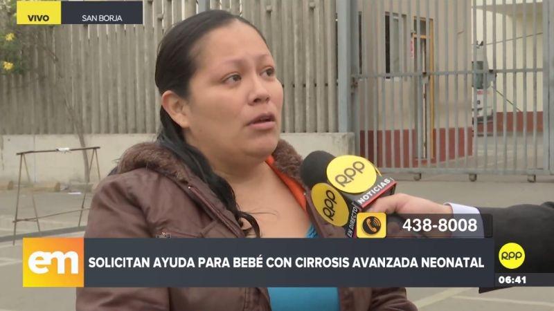 Amelia Gutiérrez pidió ayuda para que su hija sea operada en el extranjero.