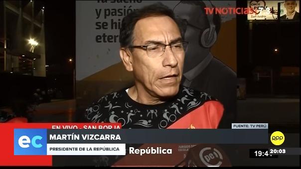 El presidente Martín Vizcarra sobre reunión con Daniel Salaverry.