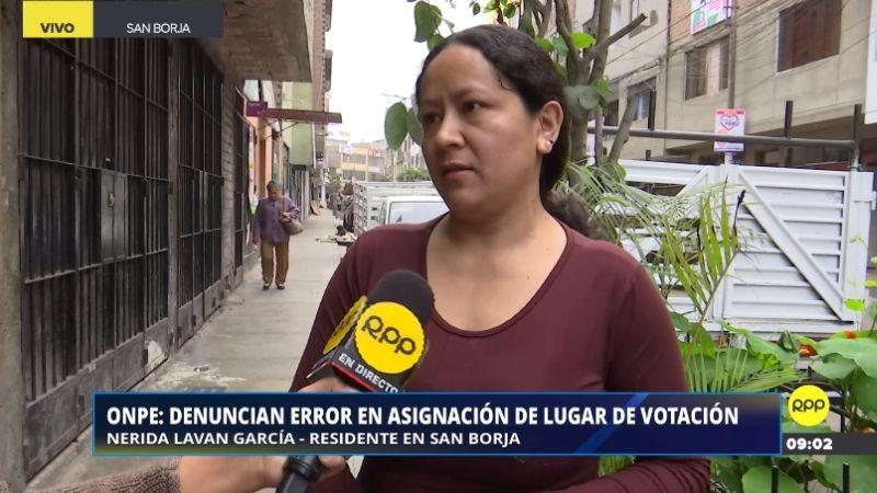 Nérida Laván García no piensa viajar a Chiclayo y espera que la ONPE y el Reniec le den una solución.