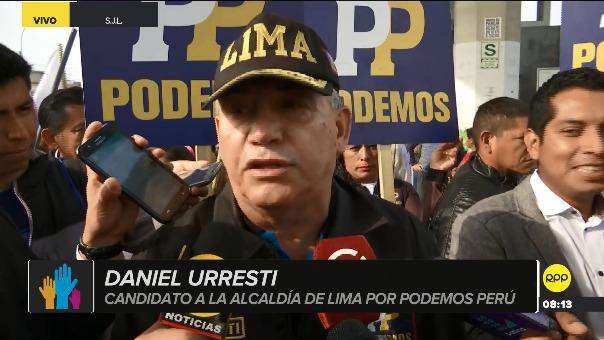Daniel Urresti, candidato de Podemos Perú.
