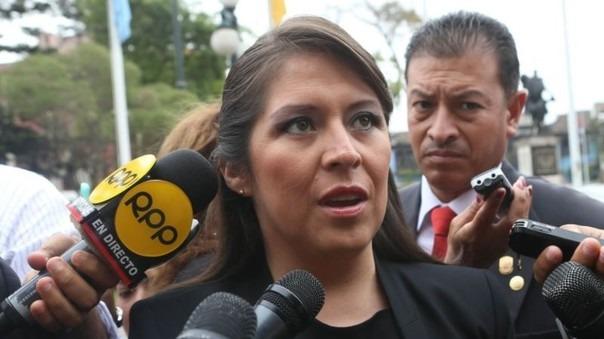 La parlamentaria de Fuerza Popular dijo que Pacori no hizo bien el informe que se le encargó.
