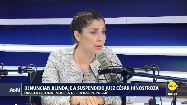 La congresista Letona en Ampliación de Noticias.