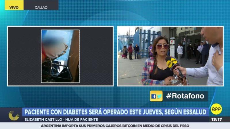 Elizabeth Castillo, hija del paciente, se mostró agradecida con RPP Noticias por hacer público el caso de su padre.