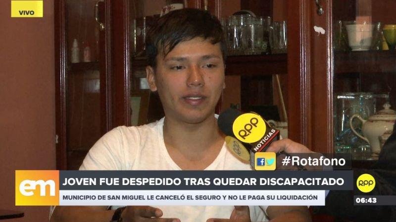 El joven Cristopher Guerrero hizo su denuncia a través del Rotafono de RPP Noticias.