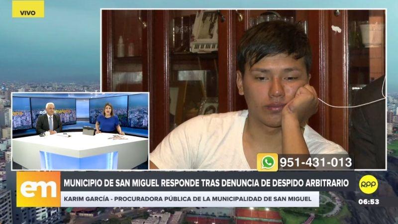 Esta es la respuesta de la Karin García, procuradora pública de la Municipalidad de San Miguel.