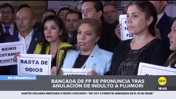 Bancada Fuerza Popular en el Congreso.
