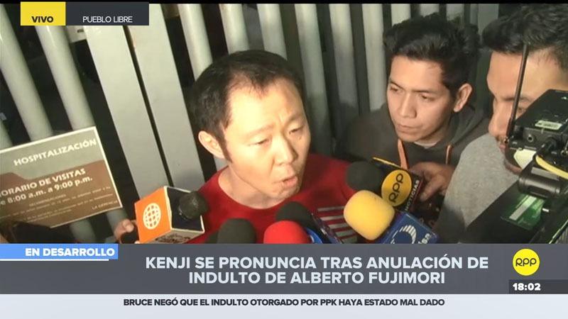 El menor de los Fujimori llevó a su padre a una clínica en Pueblo Libre.