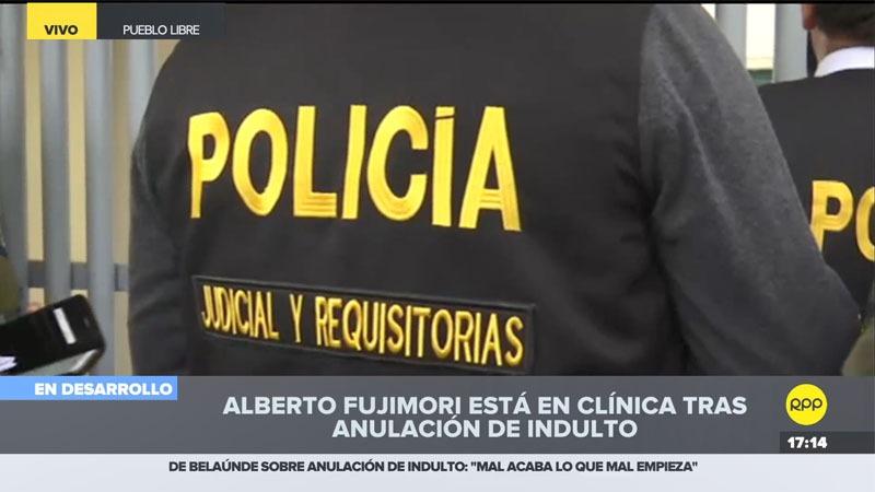 Los agentes fueron primero a la casa de Fujimori en La Molina, pero no le encontraron.
