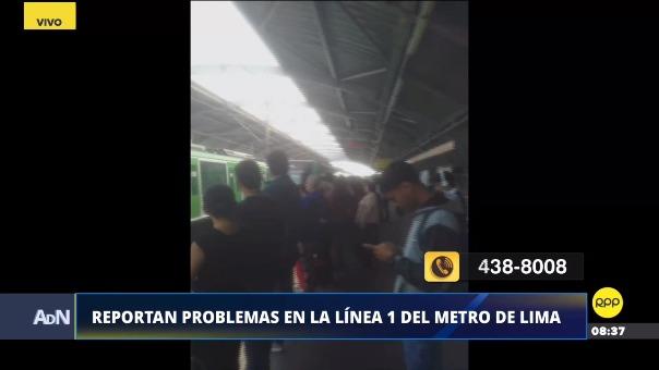 Usuarios reportan problemas en el Metro.