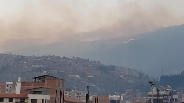Incendio en la ruta Abra Corao.