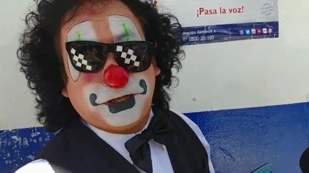 Chupetín le pidió al electorado no votar por 'payasos'.