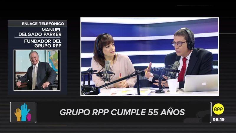 Manuel Delgado envió un saludo en el 55 aniversario de RPP Noticias.