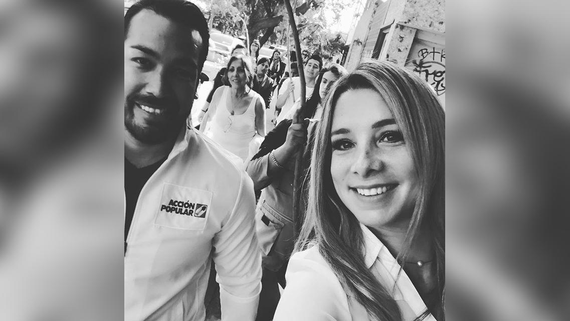 Sofía Franco compartió unos videos del virtual triunfo de su esposo a la alcaldía de La Molina.