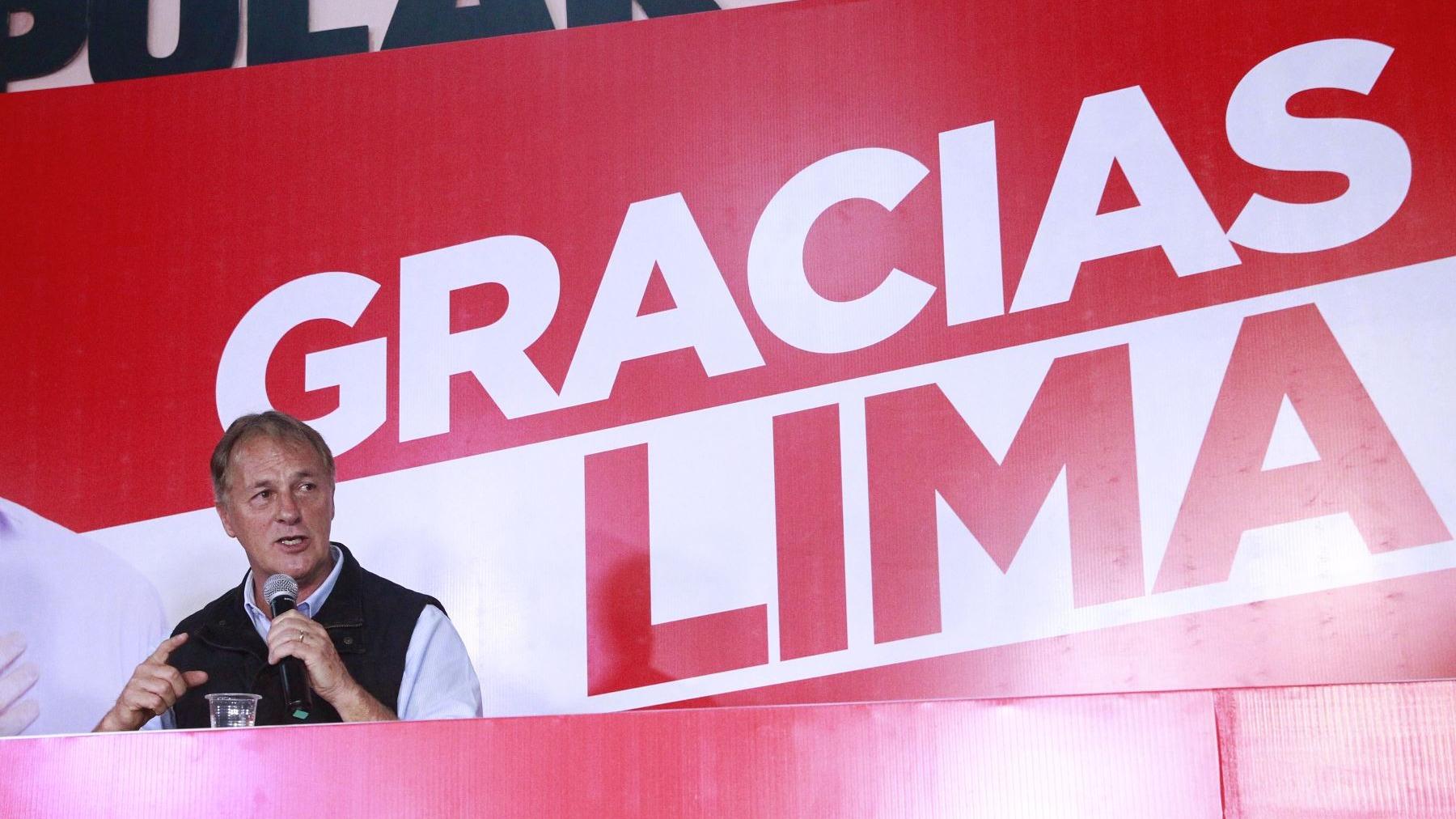 Virtual alcalde de Lima Metropolitano recibe el próximo año un municipio 15% más endeudado.