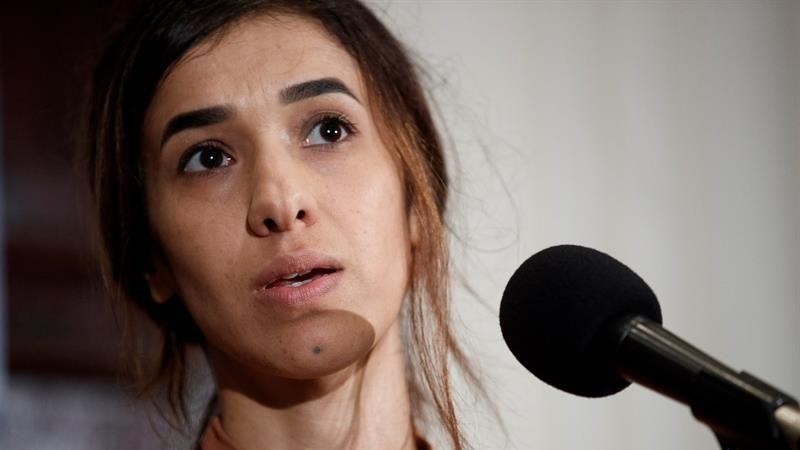 La activista solicitó a los Gobiernos que apoyen su causa, la de proteger y buscar justicia para las víctimas de violencia sexual en conflictos y para los yazidíes.