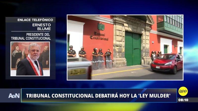 Ernesto Blume confirmó que ninguno de los miembros del Tribunal Constitucional se ha excusado de participar en el debate.