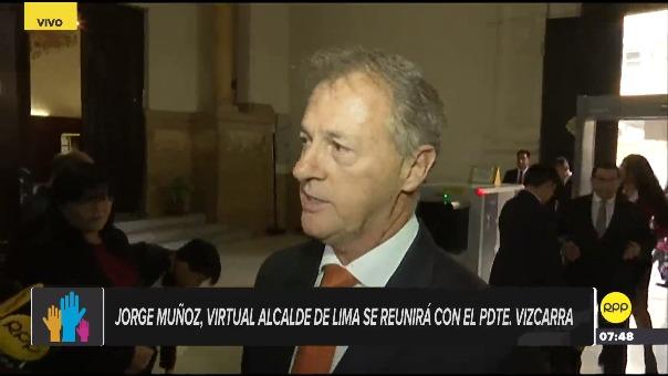 Jorge Muñoz, virtual alcalde de Lima, se reunirá con Martín Vizcarra.