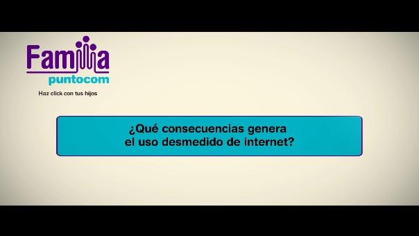 ¿Qué consecuencias genera el uso desmedido de Internet?