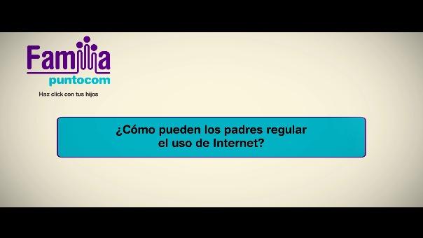 ¿Cómo pueden los padres regular el uso de Internet?