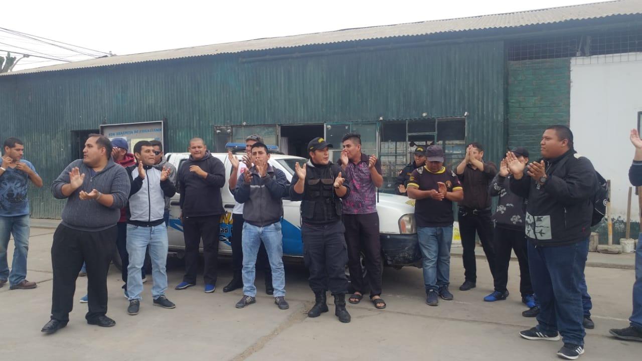 Protesta en exteriores de local de Serenazgo de Chiclayo.