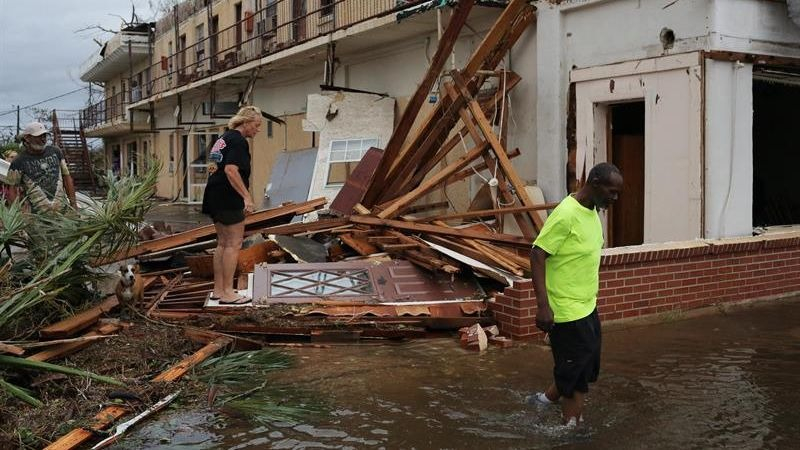 Se trata de uno de los huracanes más poderosos que han tocado el territorio continental estadounidense.