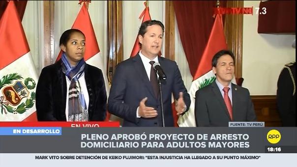 Daniel Salaverry prefirió no comentar sobre si el proyecto beneficia a Alberto Fujimori.