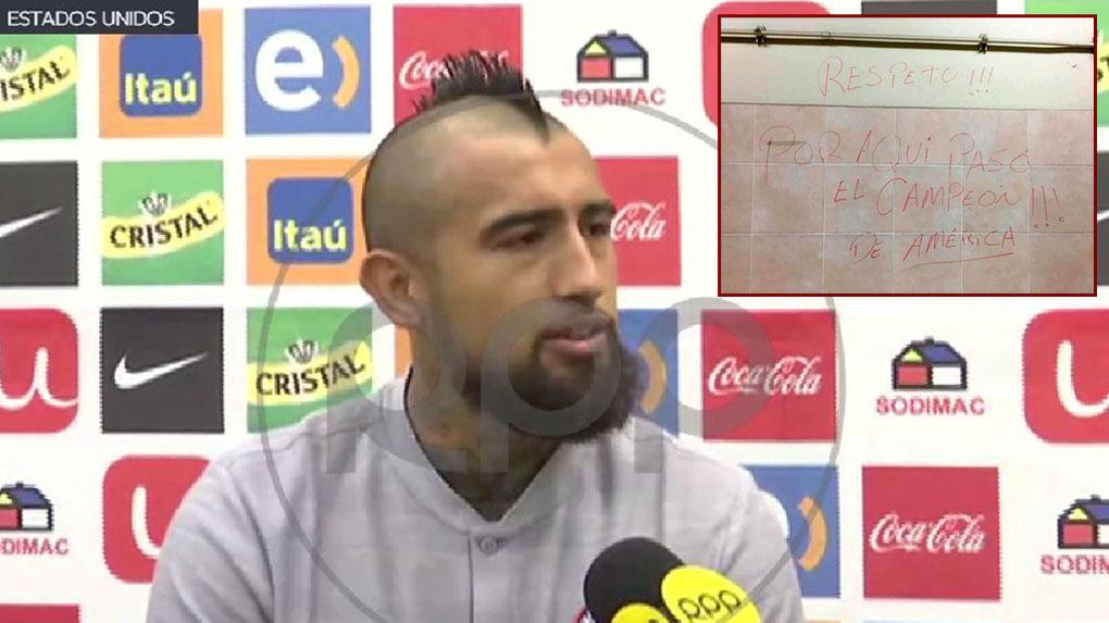 Arturo Vidal será titular en Chile para el duelo ante Perú en Miami.
