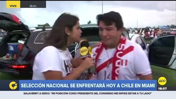 Los hinchas viven con gran intensidad la antesala del Perú vs. Chile.