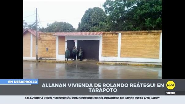 Miembros de la policía y el ministerio público se encuentran realizando allanamiento en dos casas en simultánedo, una de ellas del congresista por Fuerza Popular..