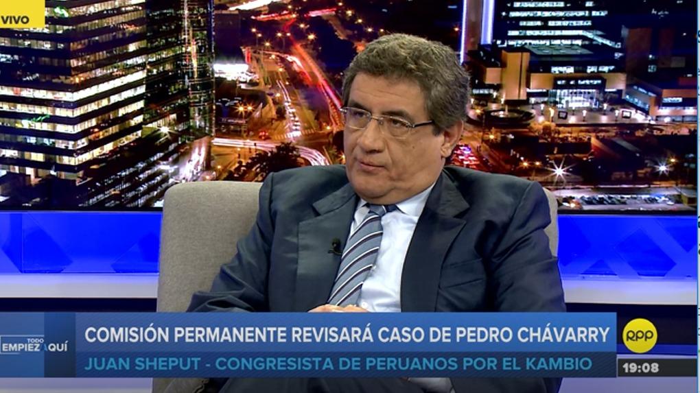 Juan Sheput es parlamentario por Lima Metropolitano.