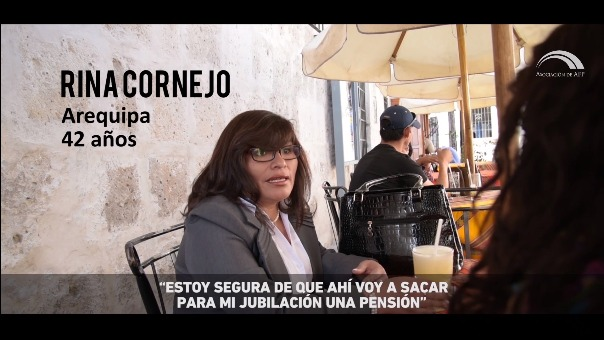 Rina Cornejo, abogada arequipeña, ya está pensando en cómo aumentar su fondo para la jubilación.