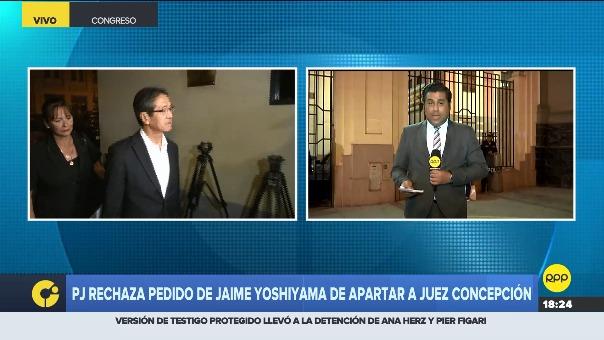 Poder Judicial rechaza pedido de la defensa de Jaime Yoshiyama.