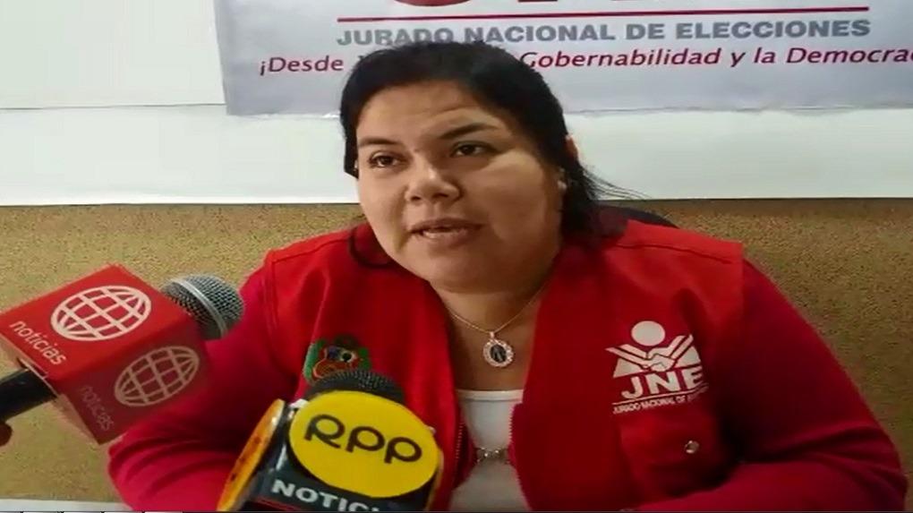 Dialethy Zapata, secretaria del Jurado Electoral Especial de Chiclayo