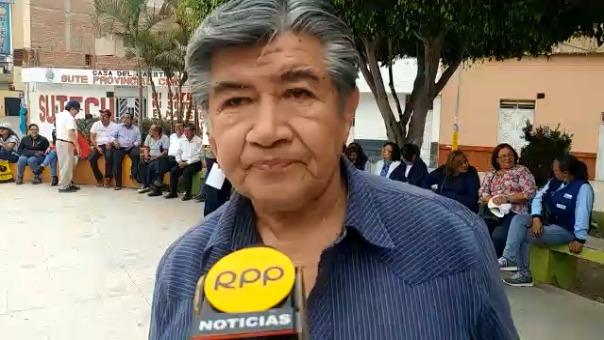 Dirigente de la CGTP, Erwin Salazar Vásquez.
