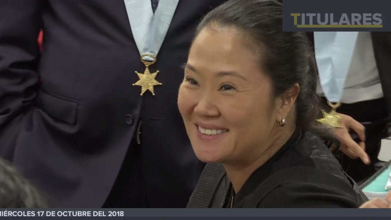 Keiko Fujimori en el juzgado.