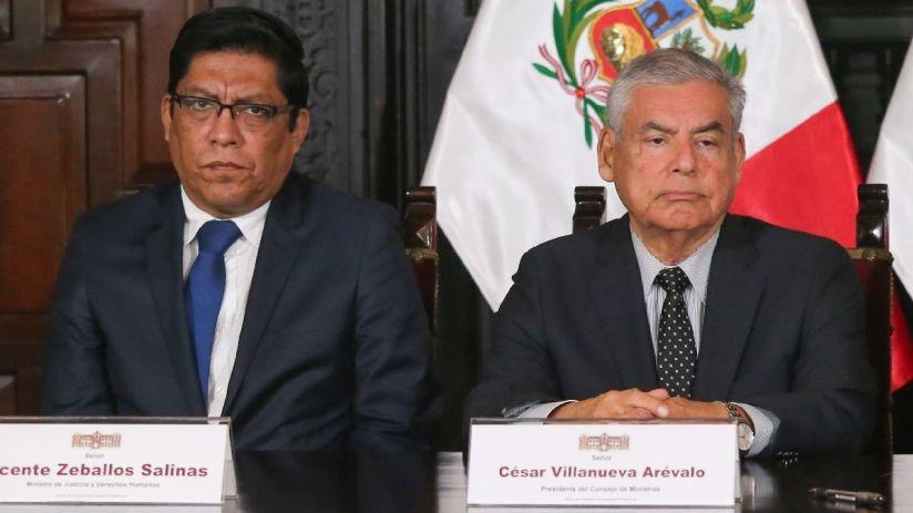 Villanueva y Zeballos fueron invitados al Congreso.