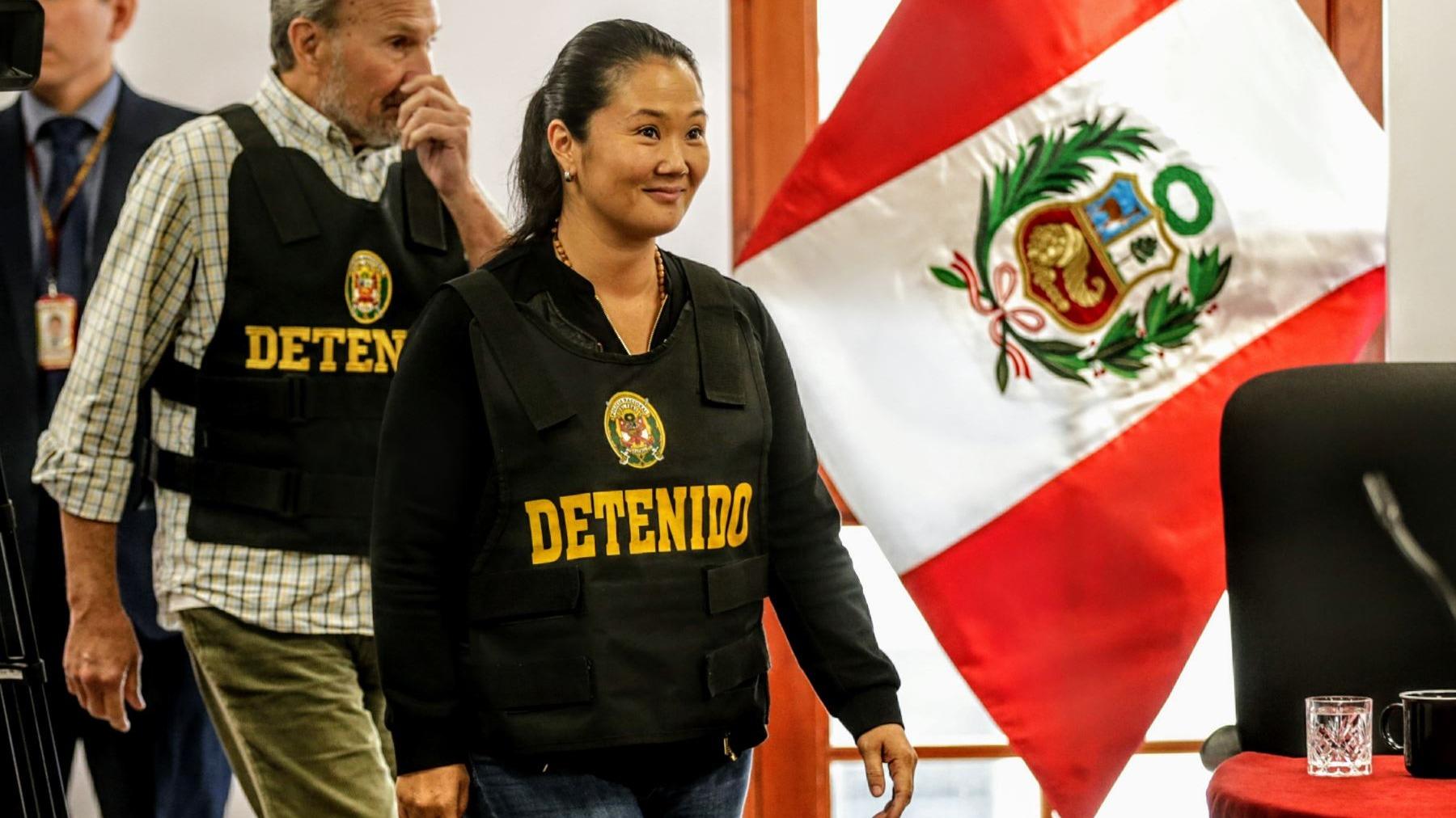 Keiko Fujimori declaró a la prensa tras ser liberada de la detención preliminar.