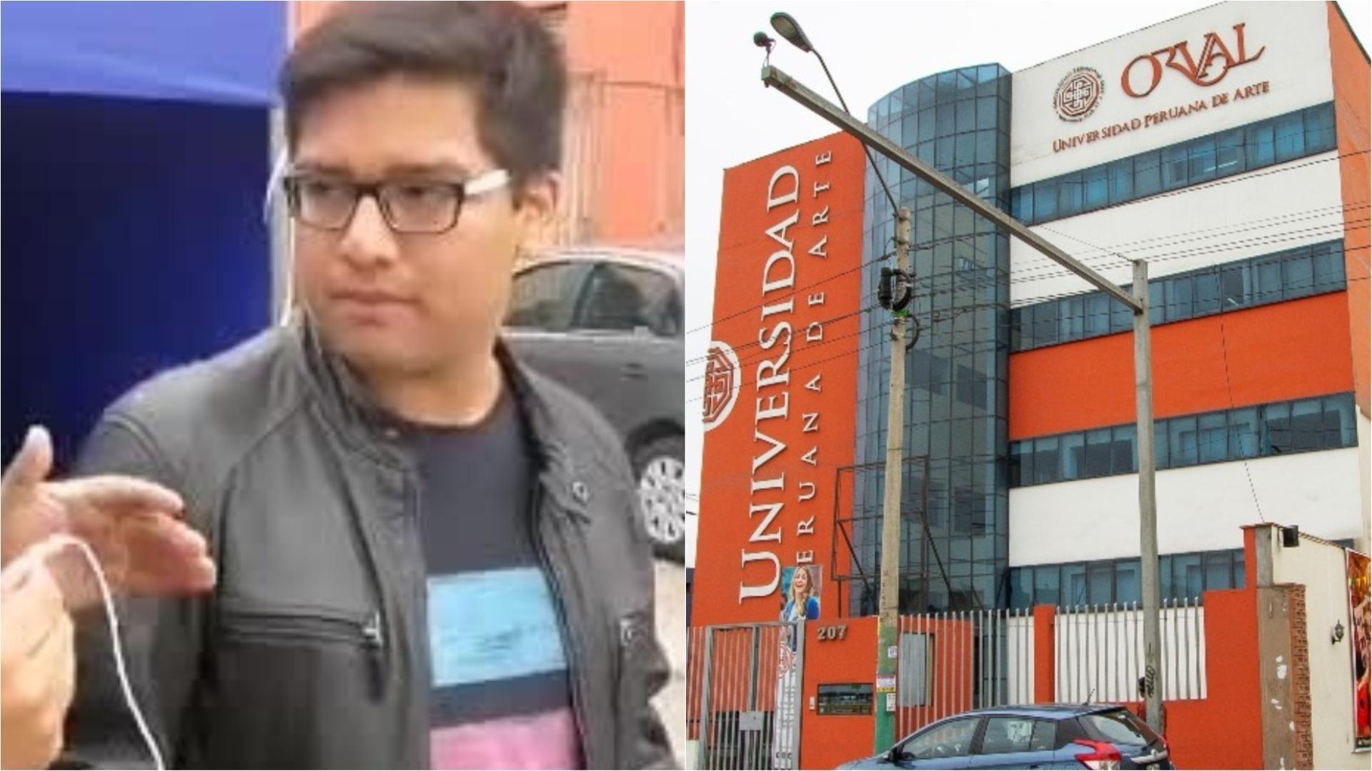 Alumno de la Universidad Peruana de Arte Orval se enteró del cierre progresivo de la casa de estudios esta mañana.