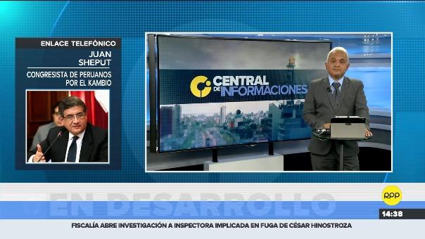 Juan Sheput en entrevista con RPP Noticias.