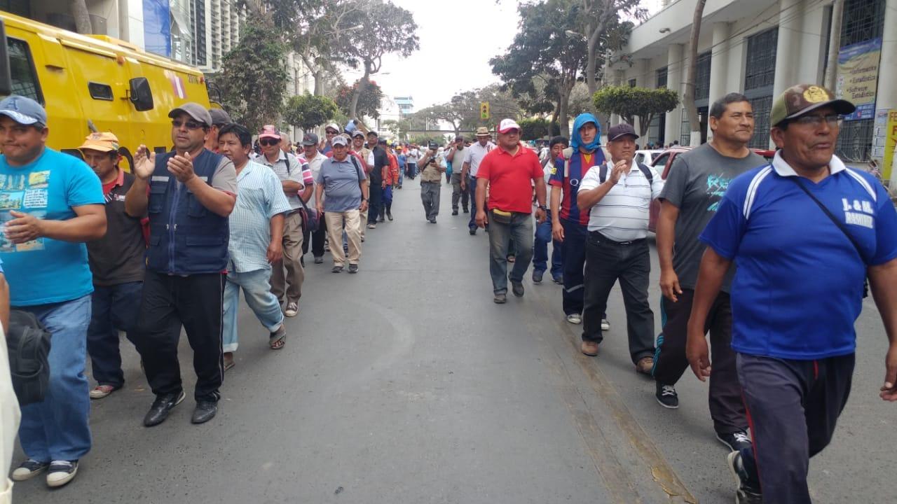 Marcha de protesta.