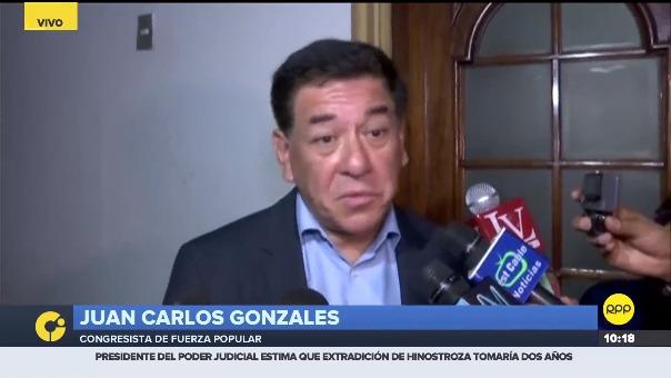 El congresista fujimorista Juan Carlos Gonzales.