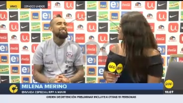 Las disculpas de Arturo Vidal en entrevista con RPP Noticias.