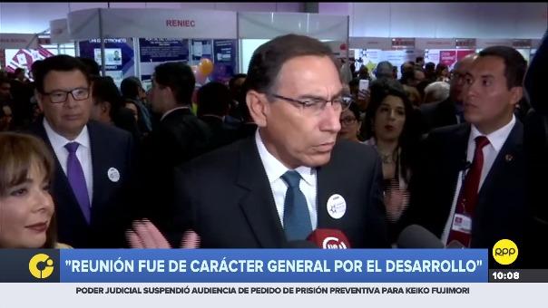 Martín Vizcarra comentó la reunión con los legisladores fujimoristas.
