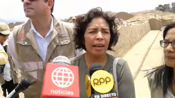 Patricia Balbuena, ministra de Cultura.