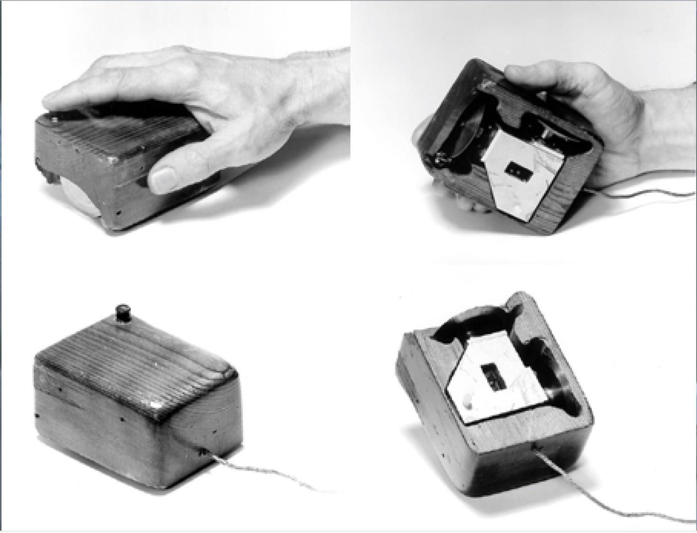 Los primeros diseños del mouse por Engelbart.