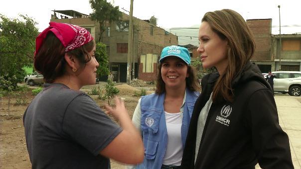 Acnur compartió este video de la visita de Angelina Jolie en Perú.