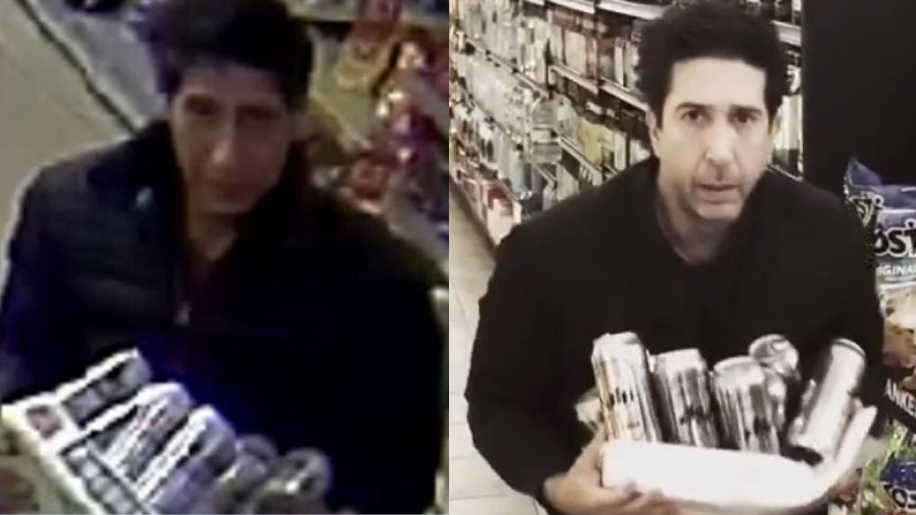 El actor David Schwimmer compartió este video tras ser comparado con un ladrón en Inglaterra.