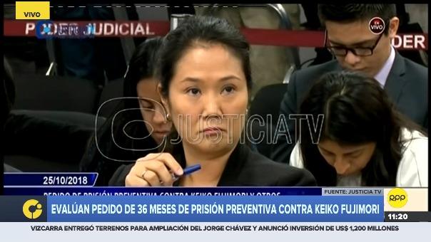 Evalúan pedido de 36 meses de prisión preventiva contra Keiko Fujimori