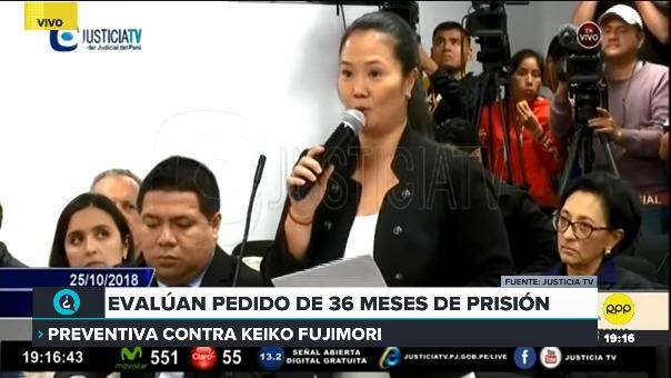 La lideresa de Fuerza Popular dijo que lo que dice el testigo clave a la Fiscalía es mentira.